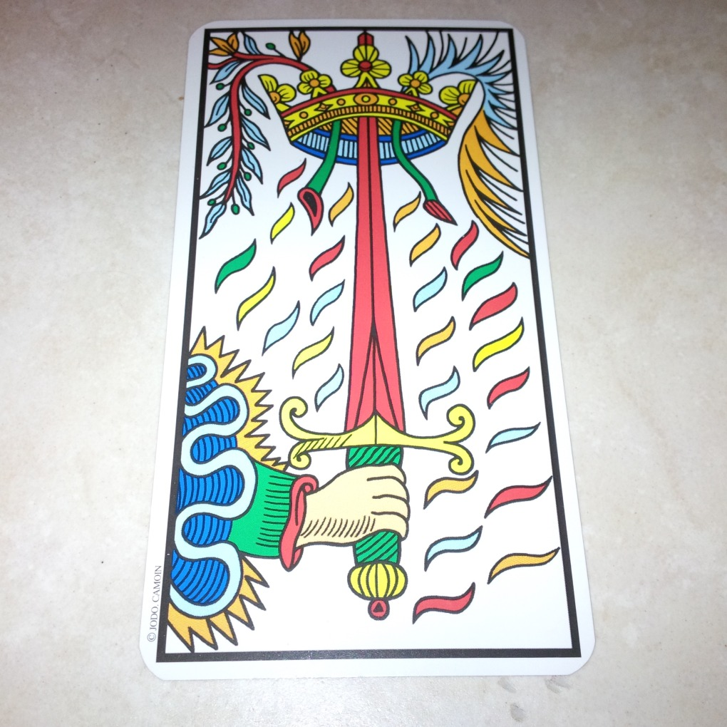 Ace of Swords Camoin-Jodorowsky Tarot de Marseille