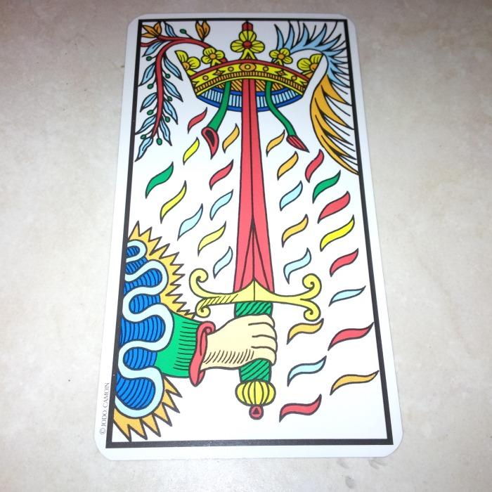 Ace of Swords Camoin-Jodorowsky Tarot de Marseille