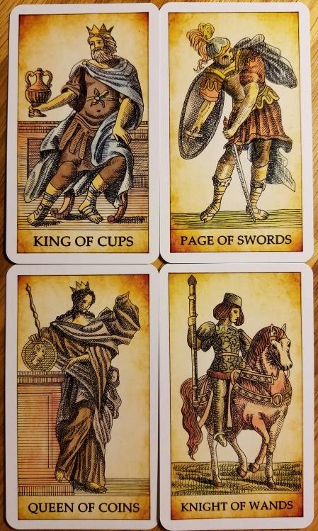 The Dark Tarot, the Court cards.