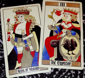 Eros Tarot by Uusi King of Wands and The Empress