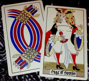 Eros Tarot by Uusi 8 of Swords and Page of Swords