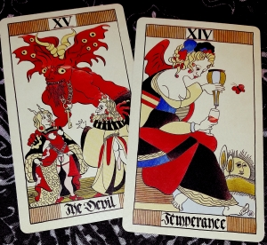 The Devil and Temperance Eros Tarot by Uusi