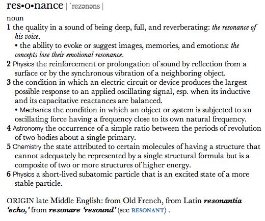 Resonance definition