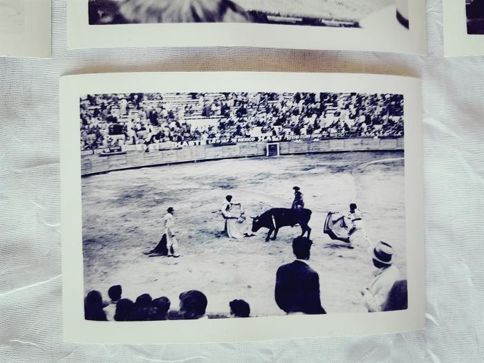 Vintage photograph of bullfight.