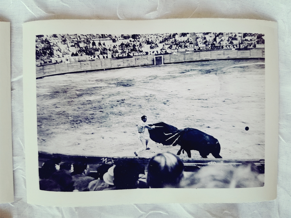 Vintage photograph of a bullfight