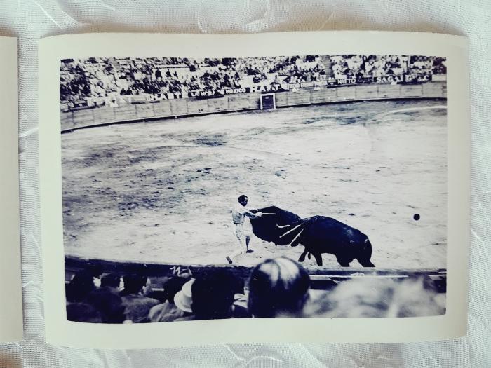 Vintage photograph of a bullfight