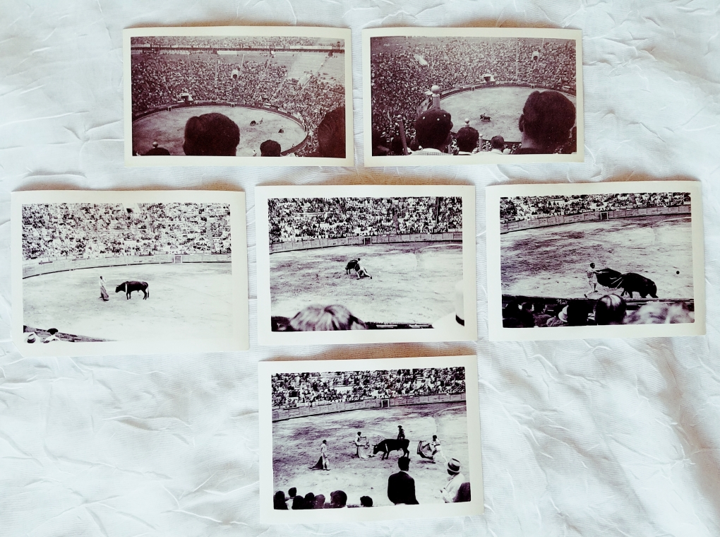 Vinatge photographs of a bullfight