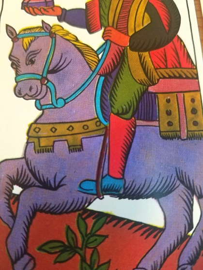 Knight of Cups, The Spanish Tarot published by Heraclio Fournier, Spain.