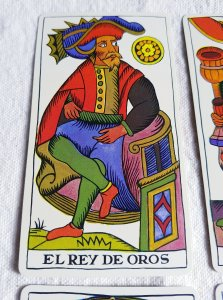 The king of coins The Spanish Tarot