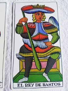 The King of Batons The Spanish Tarot