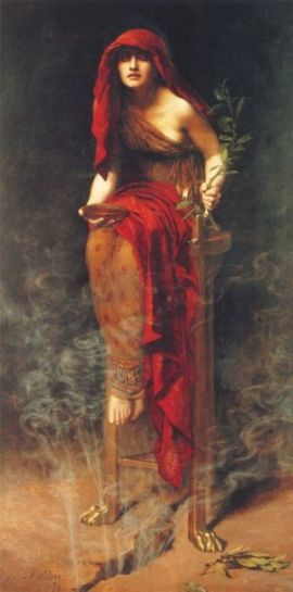 Priestess of Delphi Pythian Oracle Sibyl Delphic Orace