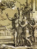 Antonio Da Trento Woodcut Sibyl