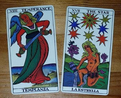 Temperance The Star Major Arcana Tarot