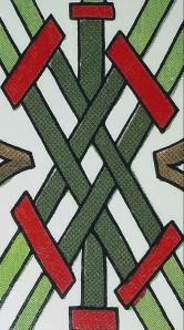 The spanish tarot 5 of batons