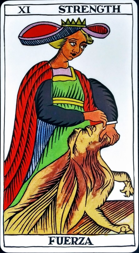 Strength Force Fuerza The Spanish Tarot