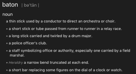 Baton dictionary definition