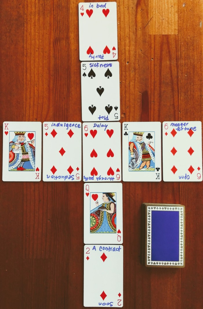 Vintage Tiffany & Co. blue and red Playing Cards, New York.