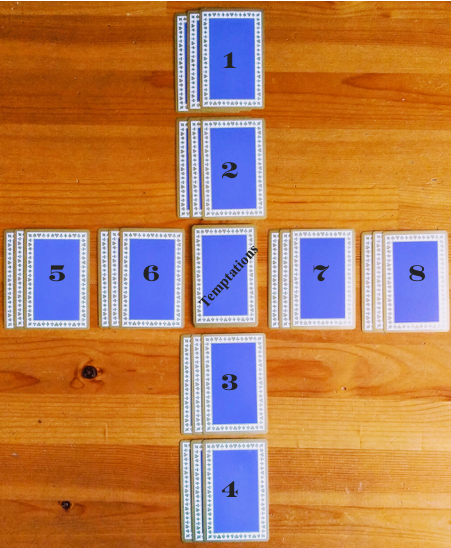 Vintage Tiffany & Co. blue and red Playing Cards, New York. Crossed Cartomancy
